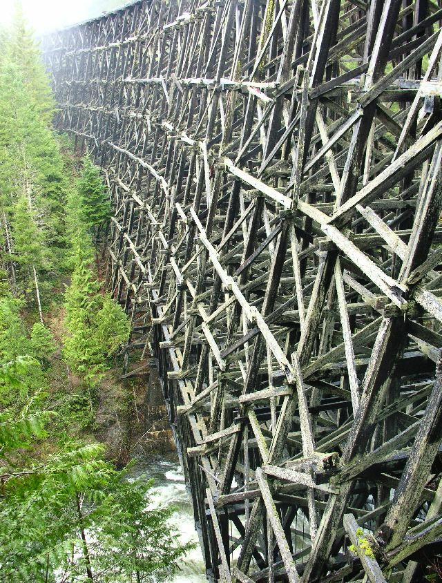 Kinsol Trestle, Vancouver Island Canada  I wanted to check out this old Train Trestle.. Maybe next time!!