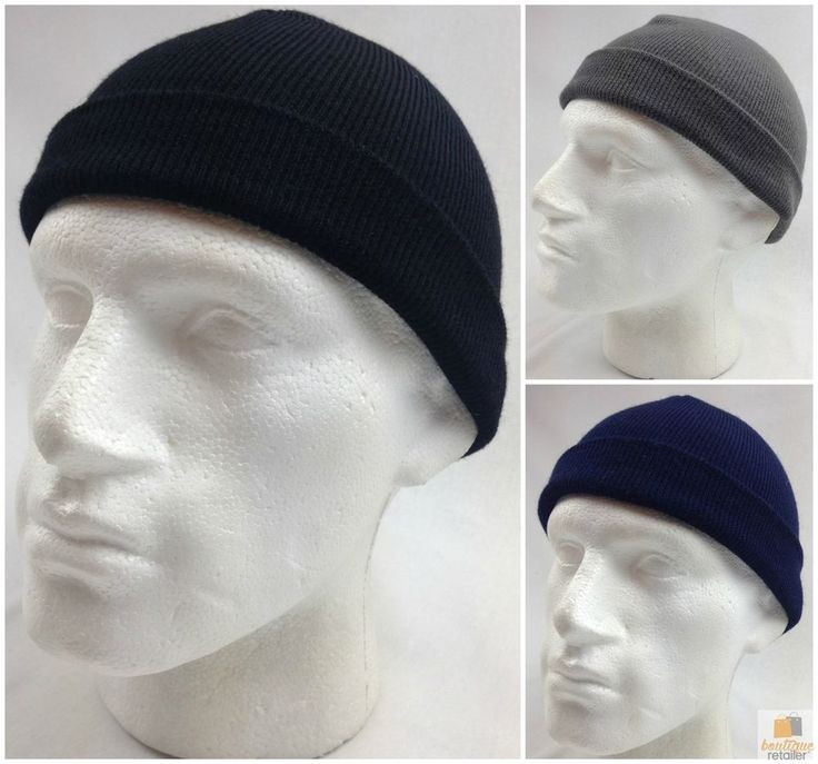 100% PURE WOOL Fine Knit Beanie Hat Cap Warm Ski Snow Pull On Knitted 21011 New
