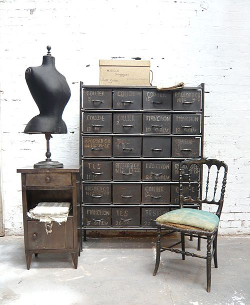 weskennedy:  French Tailor's Storage Cabinet by Chris Bailey for Industrial Chic.
