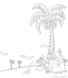 Palm coloring page