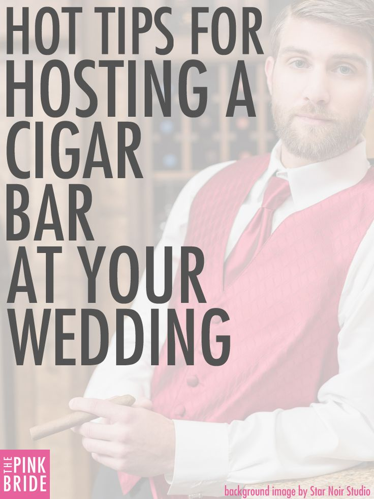 Get our hottest tips for creating a cigar bar at your wedding here! Pic taken at @windriverevents with flowers by @melissatimm and tuxedos from Savvi Knoxville. Image by Star Noir Studio | The Pink Bride www.thepinkbride.com