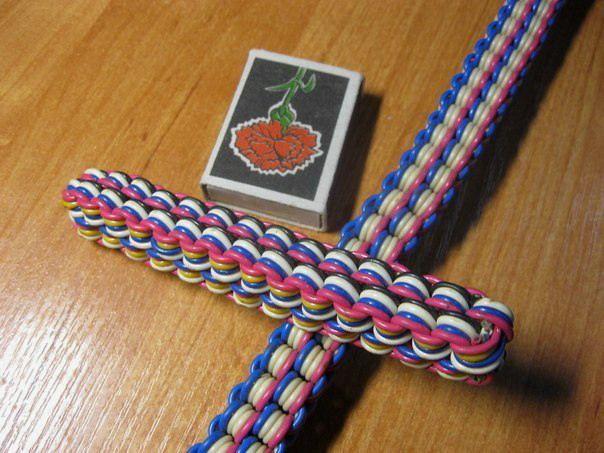 Плетение из телефонных проводов