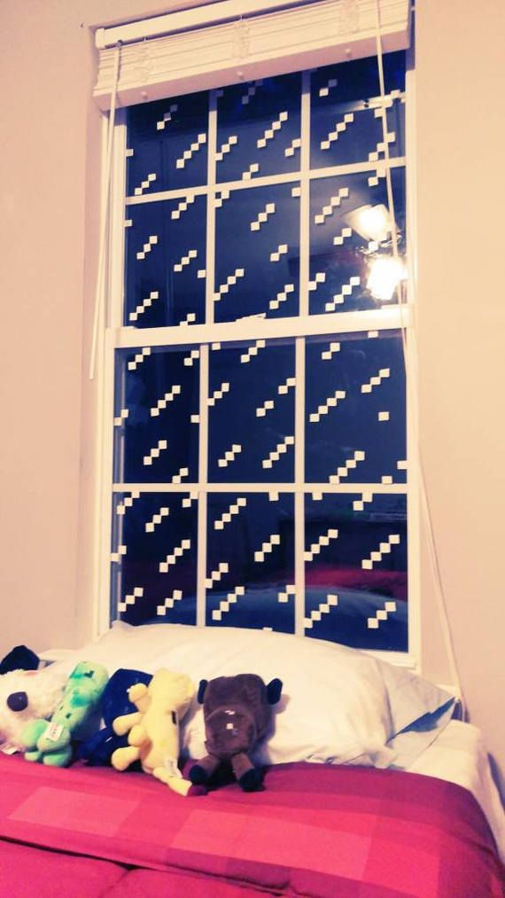 Minecraft Window Stickers Decal Decor For Boys Or Girls Bedroom