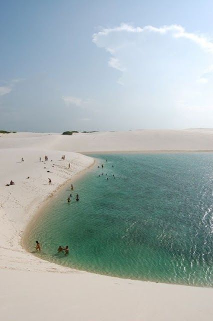 Lencois Maranhenses National Park, in Maranhao, Brazil, is one of Brazil's top natural attractions - sand dunes that stretch over 383000 acres