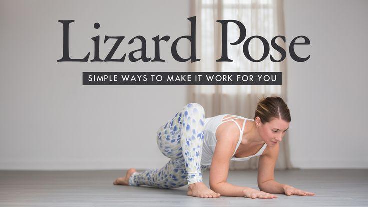 Make lizard pose comfortable and spacious for you.