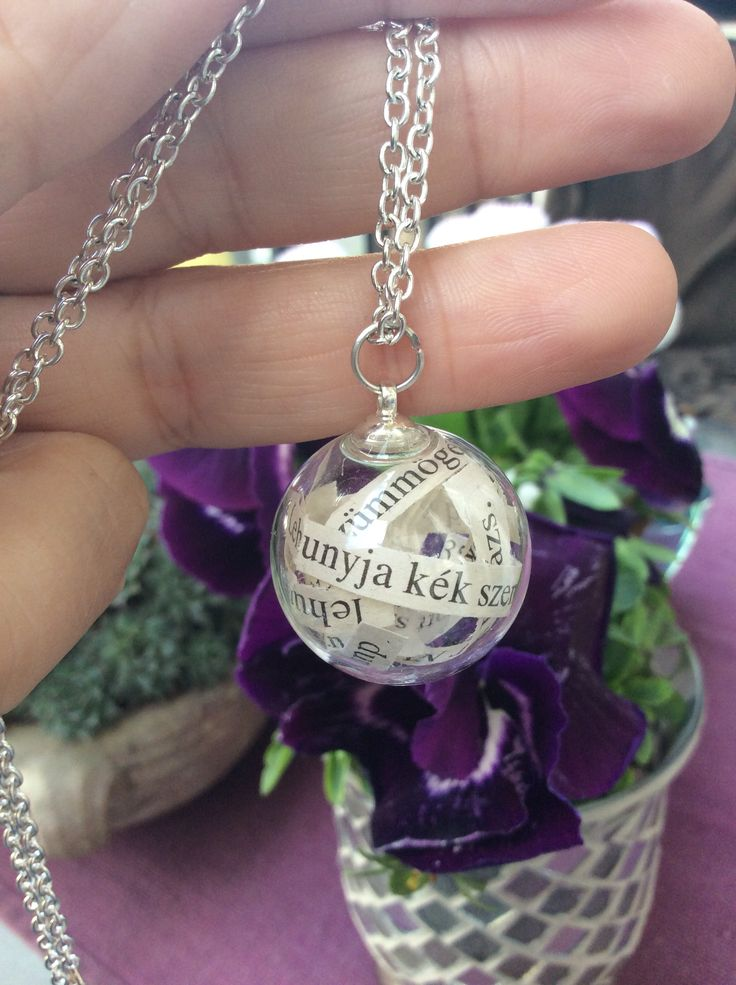 Poetry in bubbles Your favourite poems in a glass orb Necklace for you with your favourite poem  Giranelli hungarian design jewelry  12$ giranelli.hu