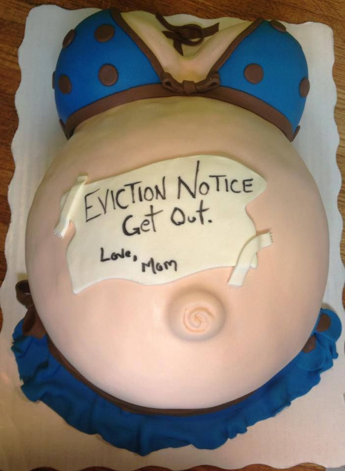 Eviction Notice Baby Belly Cake Designed By The Mom To Be