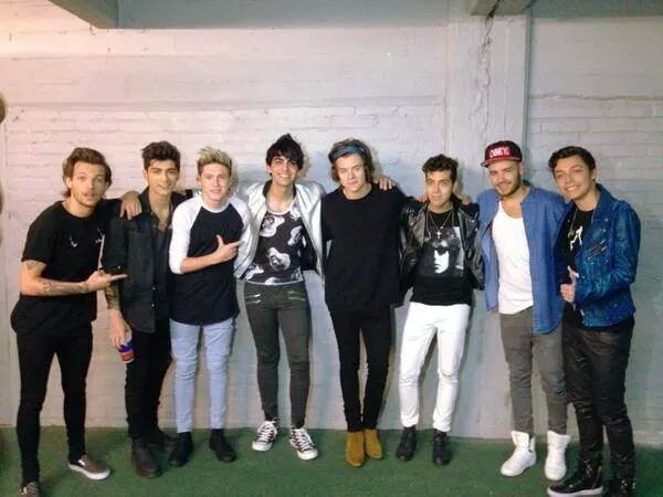 The boys and their opening act Sonus band earlier today 5.6.14