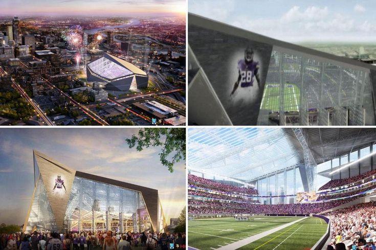 The new Minnesota Vikings' stadium design.