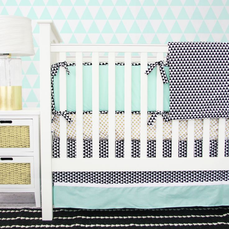 Eclectic Mint Crib Bedding from @Caden LaneCrib Bedding, Baby Bedding, Eclectic Mint, Nurseries, Caden Lane, Baby Beds, Cribs Beds, Mint Baby, Mint Cribs