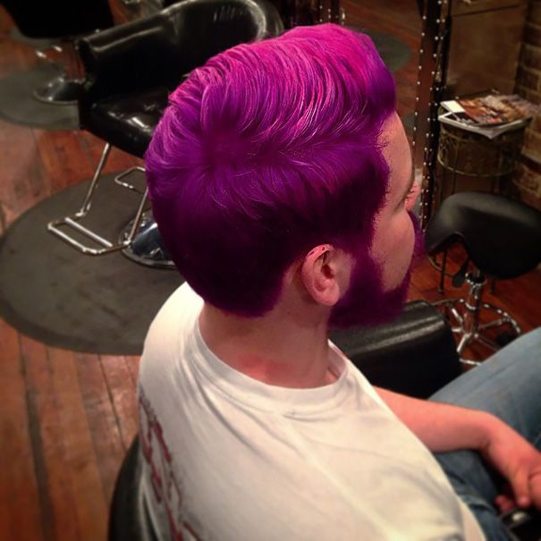 great hue of purple on that coiffeur