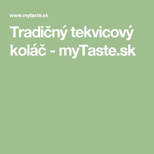 Tradičný tekvicový koláč - myTaste.sk