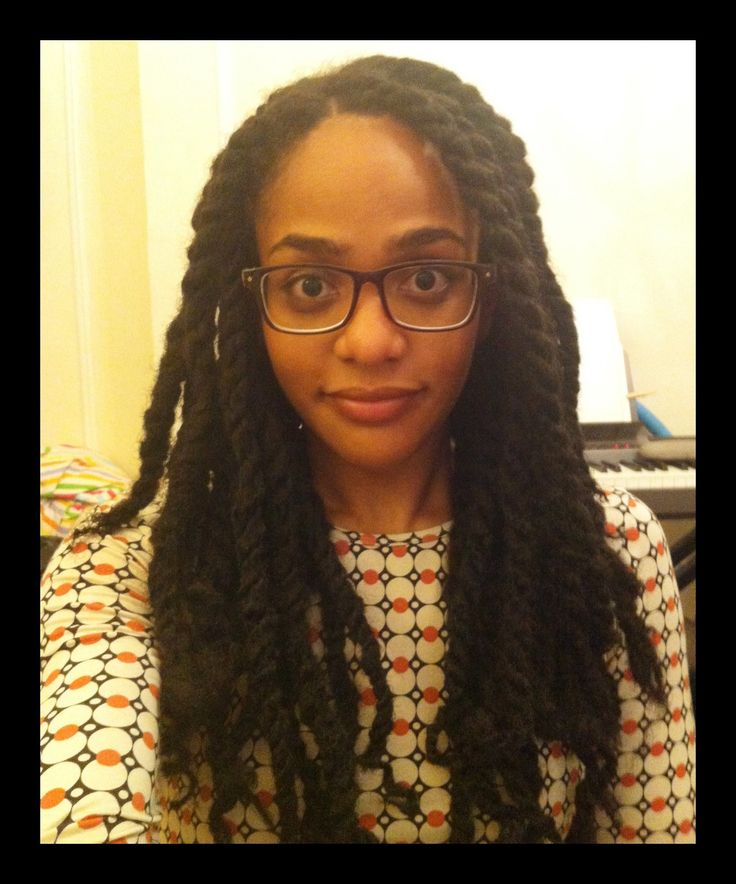MARLEY TWIST BUN | kinky twists # marley braid twists # mzcigz # red hair
