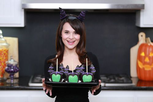 Loved recreating these Maleficent themed Candy Apples from Disneyland! ♥