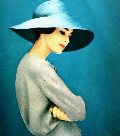 Jardin des Modes March 1958    Blue Pierre Cardin