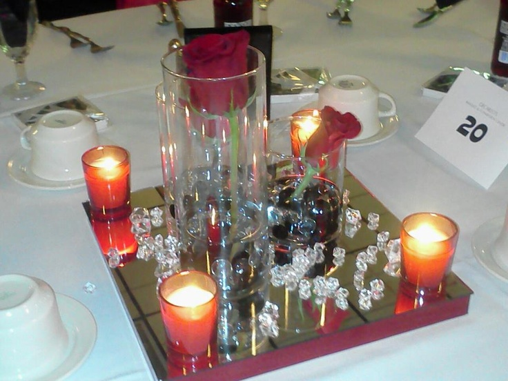 Diy Centerpieces For Cheap Vases Rocks Candles From