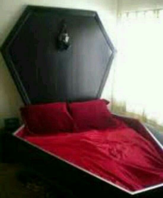 Coffin bed for my gothic room!