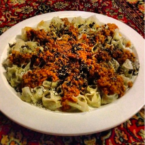 Mantu with Chicken and Leek