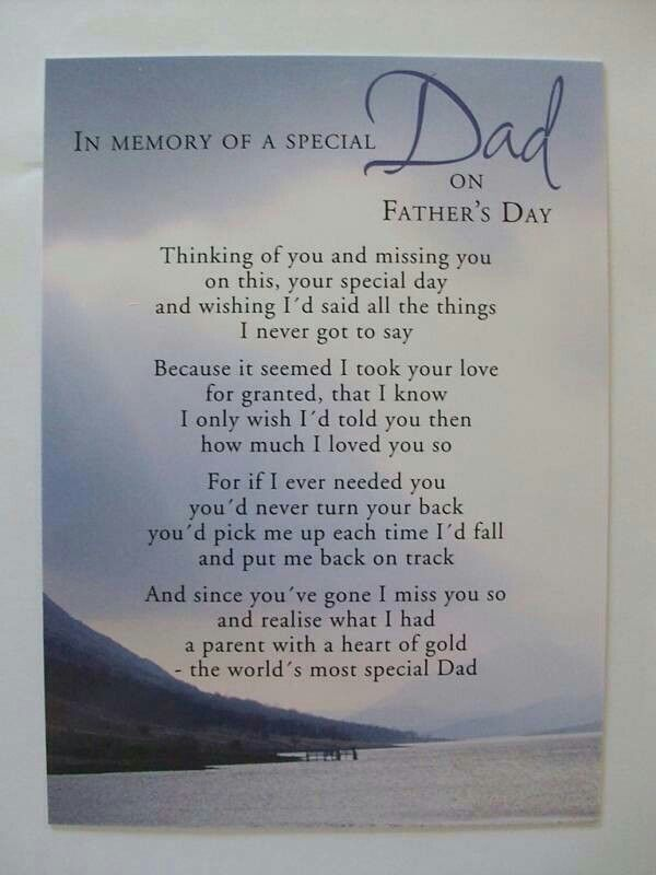 Father's Day: In Memory of a Special Dad   Deepest ...