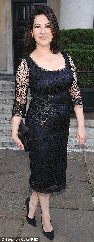 Flaunt those curves: Nigella Lawson is an example of women who accentuate their assets, rather than hiding them in ill-fitting clothing