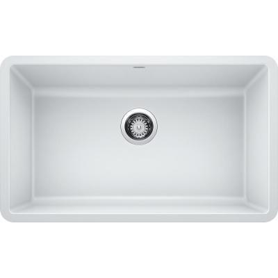 Blanco Precis Undermount Granite Composite 30 In Single Bowl Kitchen Sink In White 442533 Composite Kitchen Sinks Single Bowl Kitchen Sink Sink