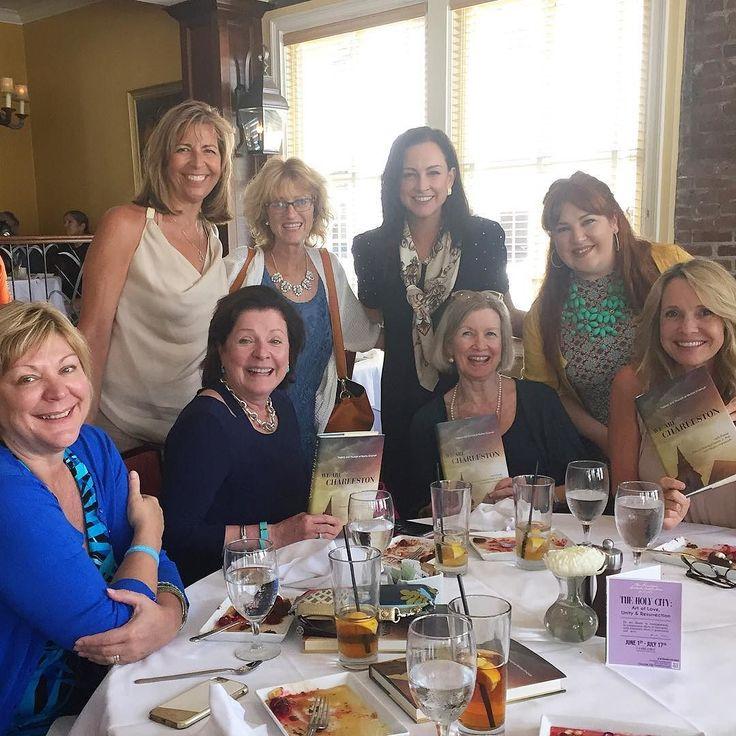 In literary heaven dining with the south's finest authors! #dortheabentonfrank #marjorywentworth #cassandraking #pattihenry #wearecharleston #highcotton