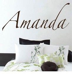 Customizable Zapfino Font Wall Letterings