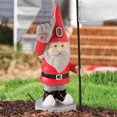 Bon Ohio State Buckeyes Gnome Flag Stand