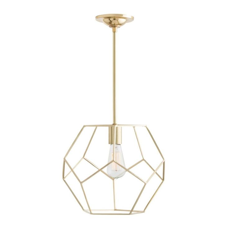 Mara Polished Brass Small Pendant Arteriors Home Lantern Lighting Ceiling