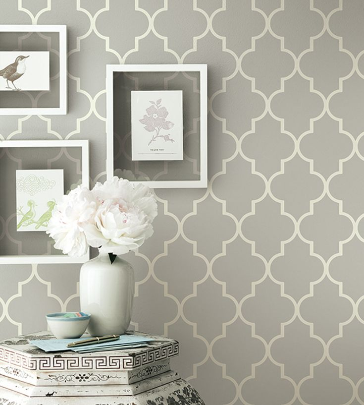 Grey contemporary geometric wallpaper | Simplicity Two Wallpaper by Brian Yates | Jane Clayton