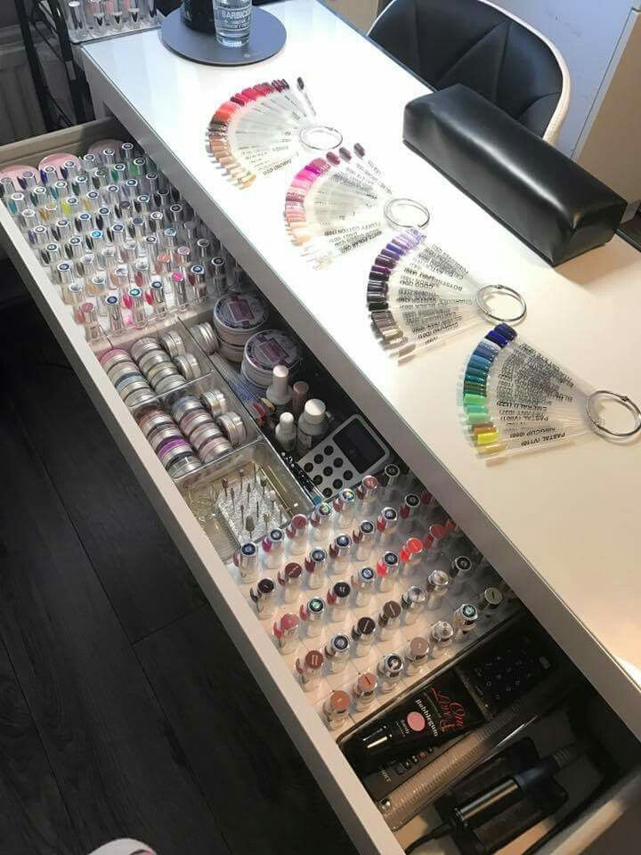 That's what I call organized! | Ideas for the Nail Salon Organization | Main Nage …
