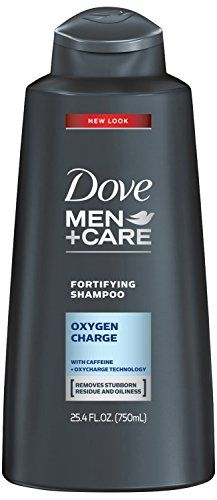 Dove Men+Care Oxygen Charge Fortifying Shampoo. This shampoo for men is engineered specifically for men who want hair free from oiliness. Enjoy stronger more resilient hair for men with active lifest...