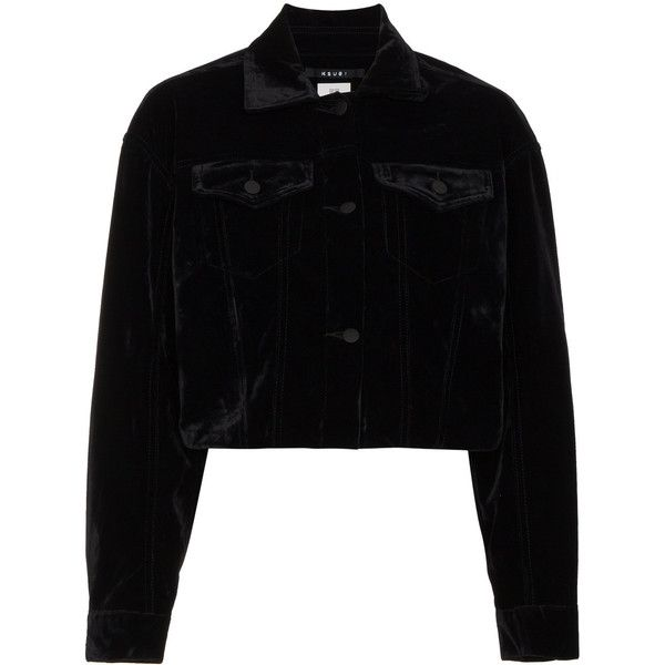 de 490 abrigo ropa Me Polyvore Velvet Black en con Daggerz gustó Chaqueta ❤ corta Ksubi COZpqp