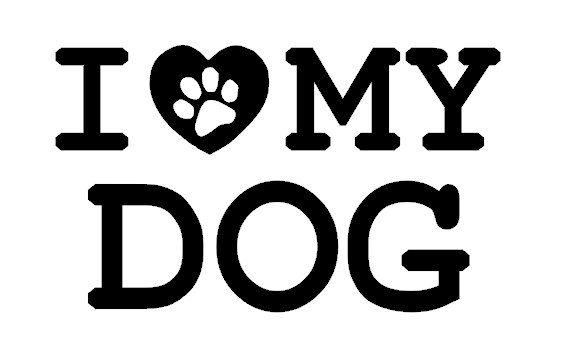 I Love My Dog Car Decal, Computer Decal,  Custom Vinyl Decal, I Love my Cat, I Love My Pet. $5.00, via Etsy.