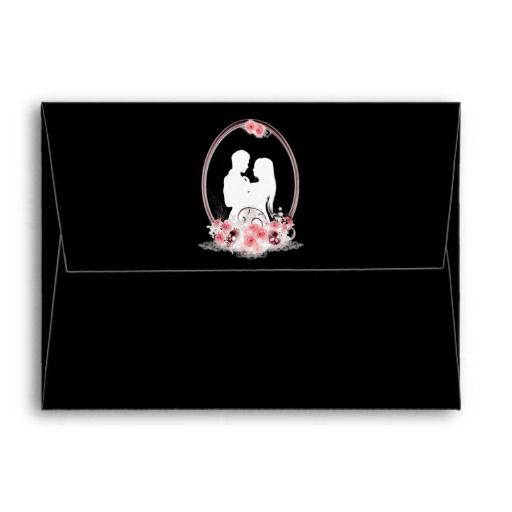Dark Union Vampire Goth Wedding Envelope