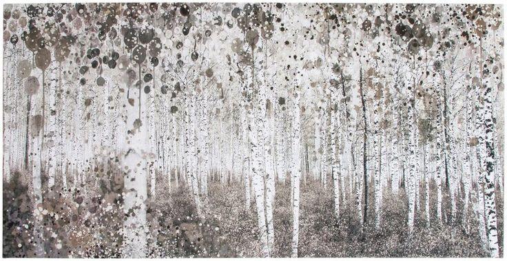 GRAHAM & BROWN Leinwand »Wald« für 49,99€. Leinwandbild, Waldmotiv, wunderschönes Aquarelldesign, dezent dunkle Farbtöne, Maße: 120x60 cm bei OTTO