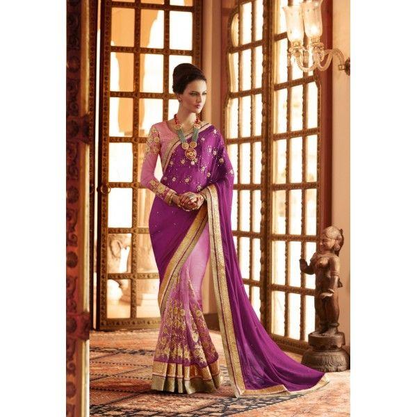 Indiand Rag Multicolor Designer Georgette Saree