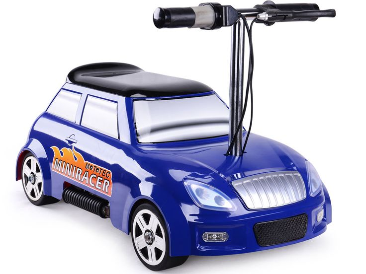 mototec 24v mini racer v2 blue comes standard with a rear disc brake half