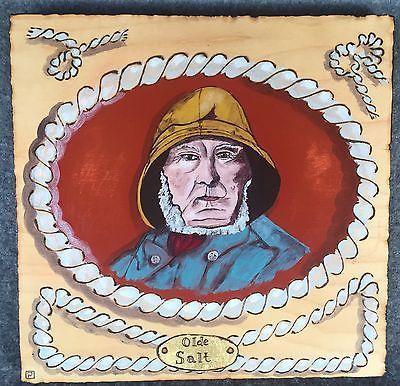 Nautical Ocean Sea Captain Rope Yacht Folk Art ORIGINAL PAINTING  | eBay
