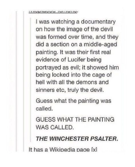 Holy.....f*ck.... first real painting of the Devil is called The Winchester Psalter....