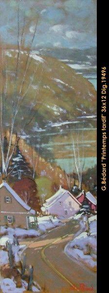 Original mixmedia painting on canevas by Gilles Bedard #GillesBedard #artist #art #mixmediapainting #artist #originalpainting #fineart #canadianartist #quebecartist  #landscape #shadows #light #multiart #balcondart #LateSpring