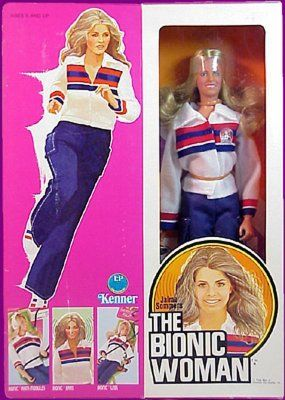 Jamie Sommers, the bionic woman doll. I played w it for hours and hours.