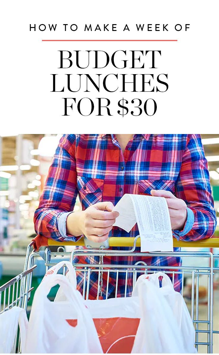 How to Make a Week of Happy Desk Lunches for $30 via @PureWow