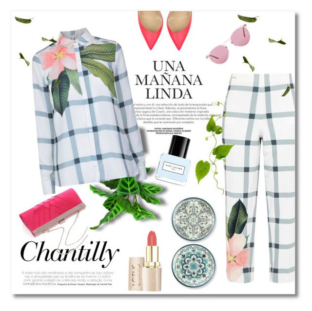 """""""Bianka #2568"""" by gaburrus ❤ liked on Polyvore featuring Ted Baker, Williams-Sonoma, Christian Louboutin, Oliver Peoples and Marc Jacobs"""