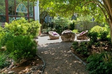 Easy Ways to Manage Stormwater for Lower Bills and a Healthier Earth (1 / 8) One of the key concepts for capturing and keeping the water that falls in your yard is permeability. Gravel walkways and soil thats cultivated and mulched (instead of raked into submission and with all organic material removed) create the ideal surface to absorb water.
