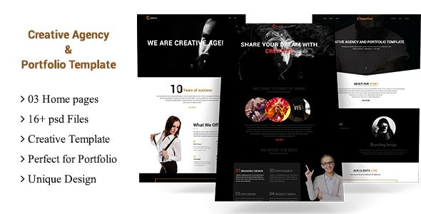 Creative Agency and Portfolio Multipurpose Template PSD Templates / Creative by wowsketch