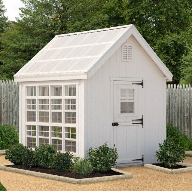 Little Cottage Company 8 x 8 ft. Colonial Gable Greenhouse 8x8-LCG-RPNK #greenhouseideas #gardensheds