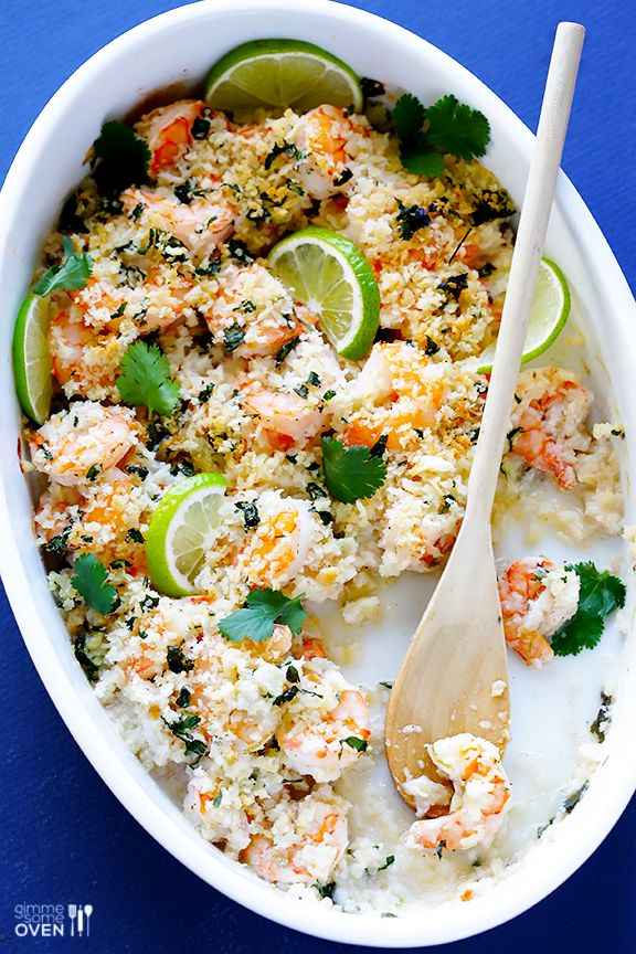 This cilantro lime baked shrimp dinner recipe is delicious and comes together in less than 30 minutes.