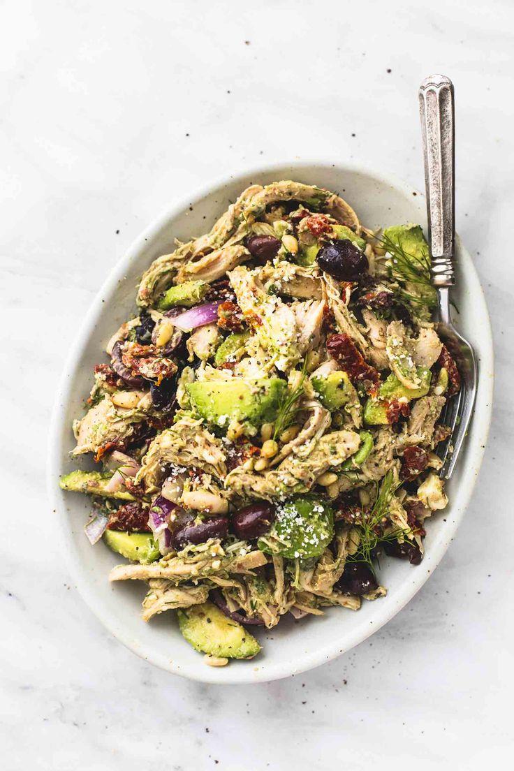 Greek Avocado Chicken Salad | lecremedelacrumb.com