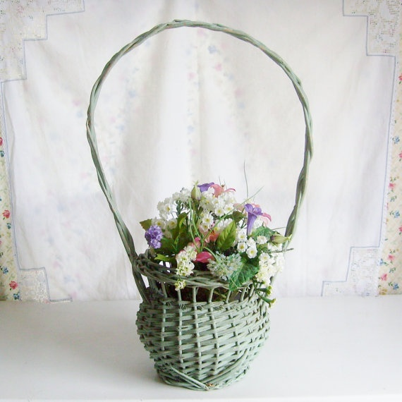 Flower Baskets Decoration : Best images about antique flower baskets on